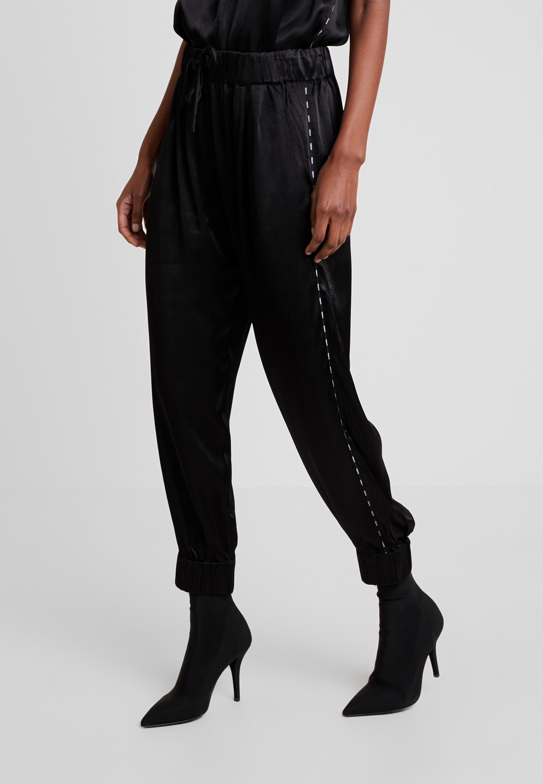 10DAYS WIDE PANTS - Stoffhose black