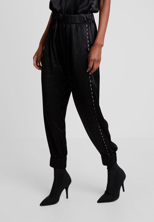 WIDE PANTS - Trousers - black