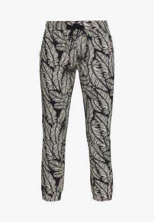 CROPPED JOGGER LEAF - Teplákové kalhoty - black