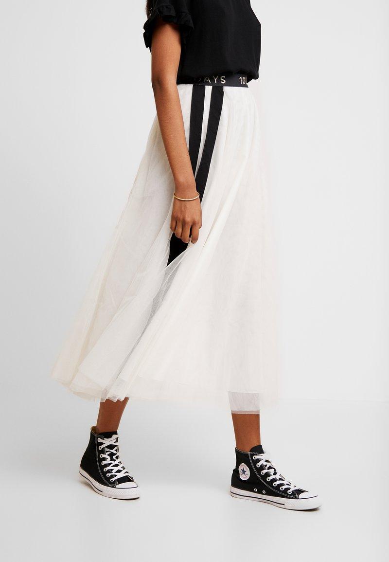 10DAYS - Áčková sukně - winter white