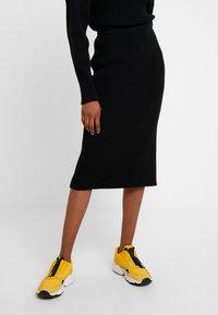 10DAYS - SKIRT - Pouzdrová sukně - black - 0