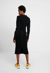 10DAYS - SKIRT - Pouzdrová sukně - black - 2