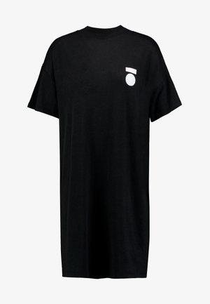 TURTLE NECK DRESS - Jersey dress - black