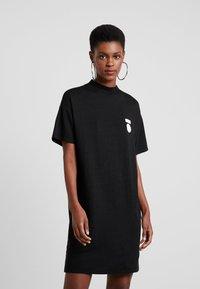 10DAYS - TURTLE NECK DRESS - Jerseykleid - black - 0