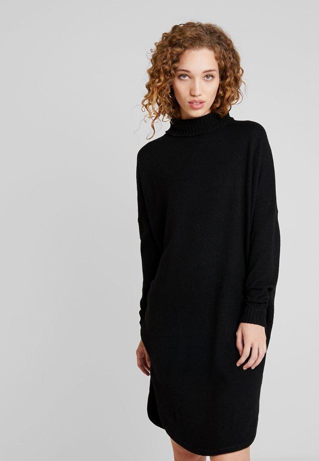COLL DRESS - Strikkjoler - black