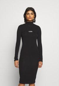 10DAYS - HIGH NECK DRESS - Day dress - black - 0
