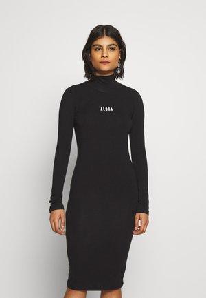 HIGH NECK DRESS - Denní šaty - black