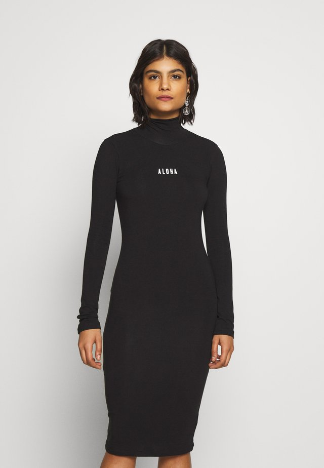 HIGH NECK DRESS - Vardagsklänning - black