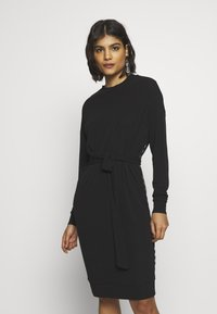 10DAYS - BELTED DRESS - Jerseykleid - black - 0