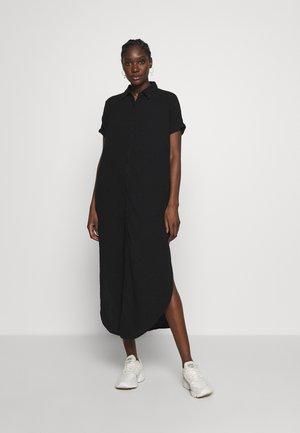 TUNIC DRESS WAFFLE - Košilové šaty - black