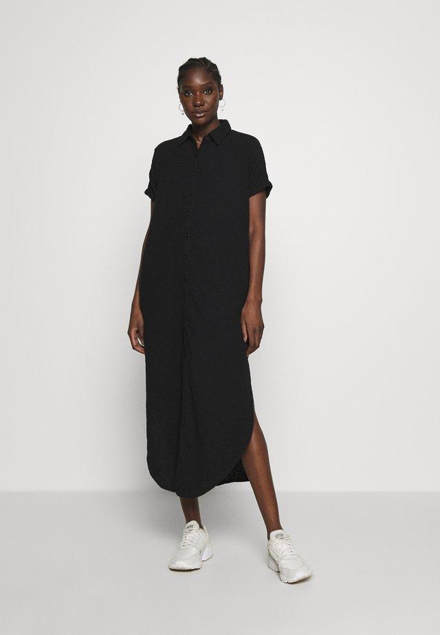 TUNIC DRESS WAFFLE - Paitamekko - black