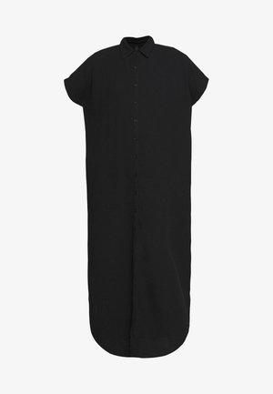 TUNIC DRESS WAFFLE - Shirt dress - black