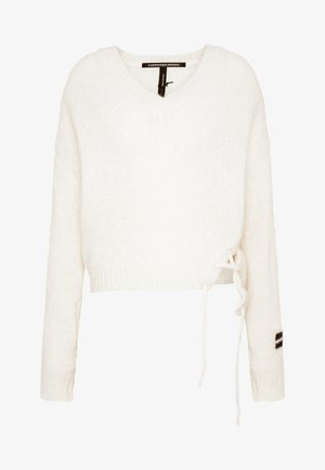 V-NECK SWEATER - Pullover - ecru