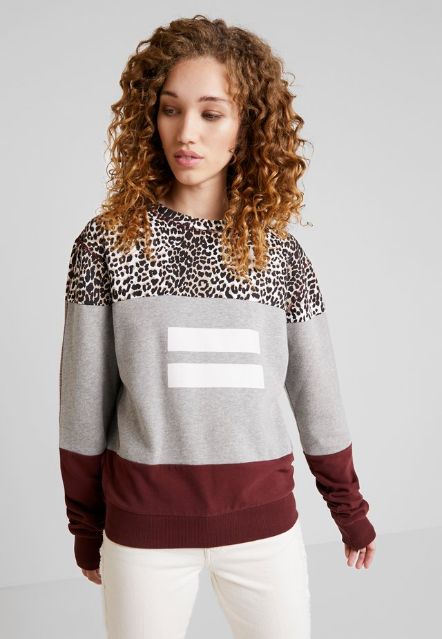 LEOPARD PANEL - Sweatshirt - light grey