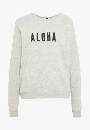 ALOHA - Sweatshirt - light grey melee