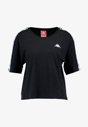 ELENI - T-shirt imprimé - black