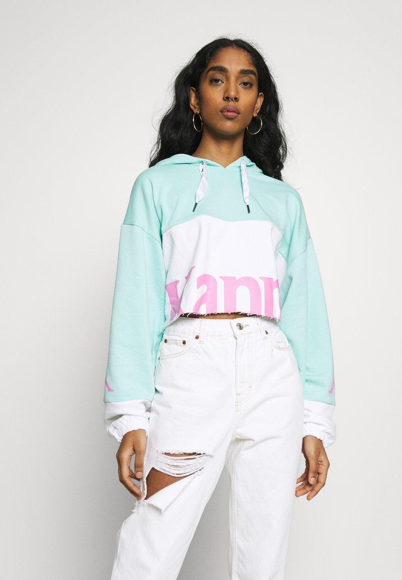 Kappa - CLAYDEE - Hoodie - greenaqua/white/pink