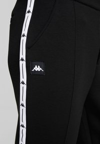 Kappa - AUTHENTIC BISO - Trousers - black/white - 4
