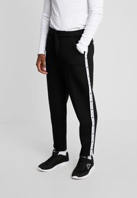 Kappa - AUTHENTIC BISO - Trousers - black/white - 0