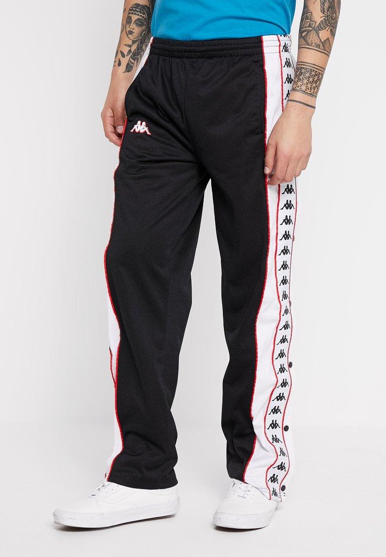 Kappa - BANDA BIG BAY SNAP - Jogginghose - black/white