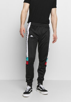 BANDA MEMS SLIM - Trainingsbroek - black/white/turquoise/red