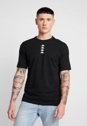 VATOU - T-shirt med print - black
