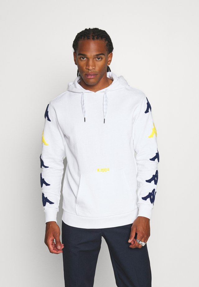 AUTHENTIC SAND CHARICE - Kapuzenpullover - white/blue/yellow