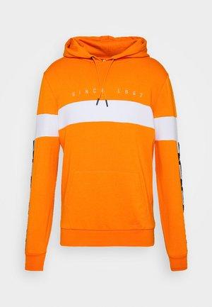 AUTHENTIC CASPOR - Sweat à capuche - orange/white/black