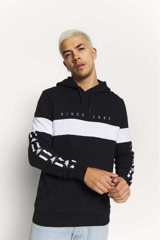 AUTHENTIC CASPOR - Kapuzenpullover - black-white
