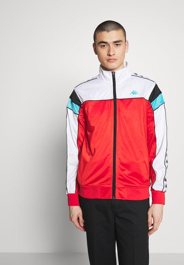 BANDA MEREZ SLIM - Trainingsjacke - red/white/black/turquoise