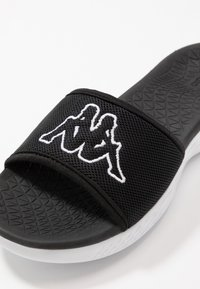 Kappa - COLLERAS - Chanclas de baño - black/white - 5