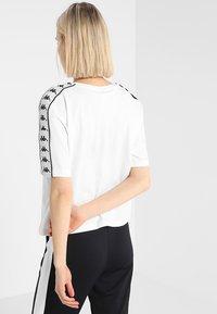 Kappa - ELIN - T-shirt med print - white - 2