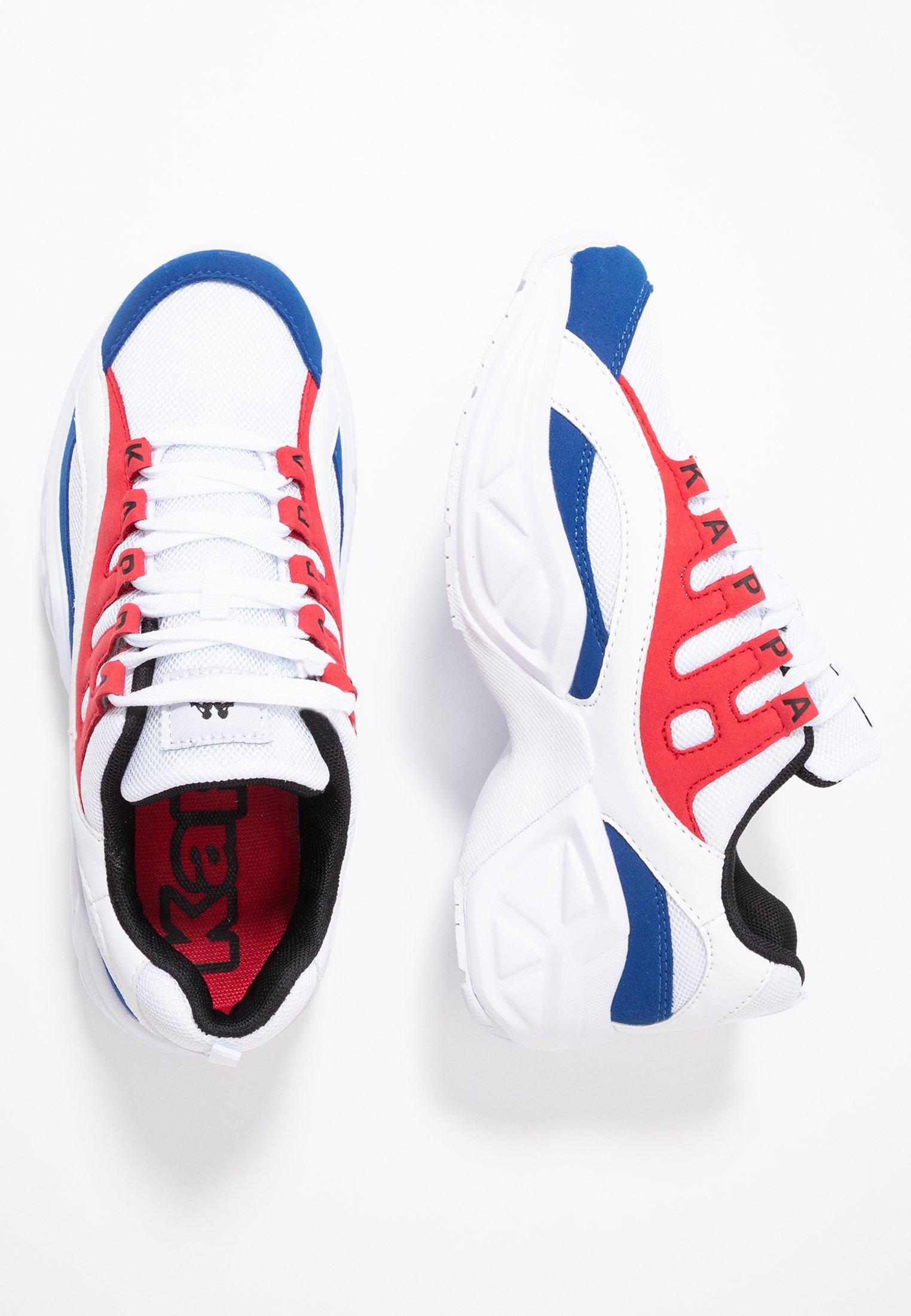 Kappa OVERTON - Obuwie treningowe - white/red