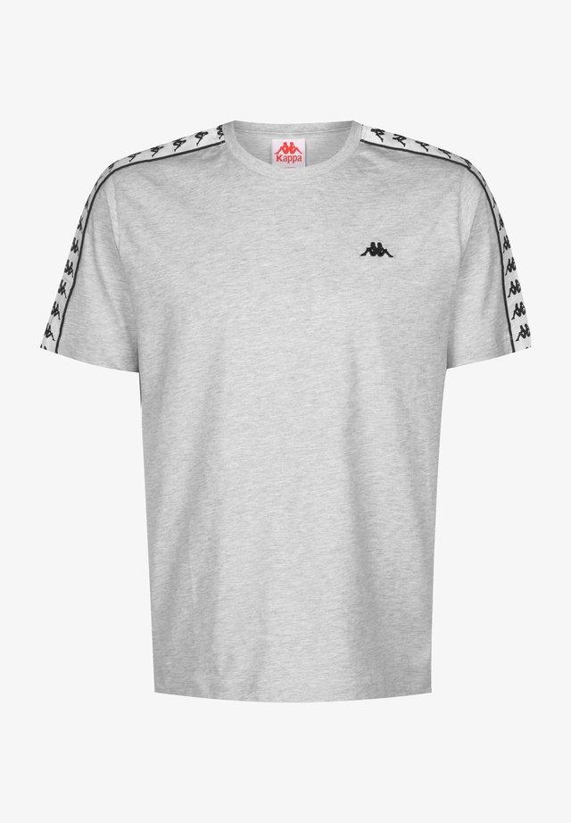 GRENNER - Print T-shirt - mottled grey