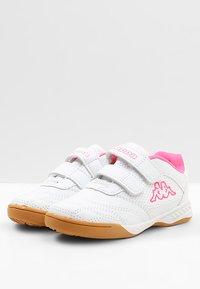 Kappa - KICKOFF  - Trainings-/Fitnessschuh - white/pink - 2