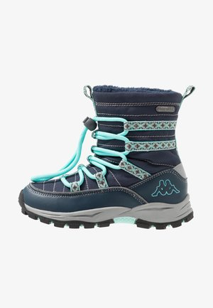 FARVEL TEX - Winter boots - navy/mint