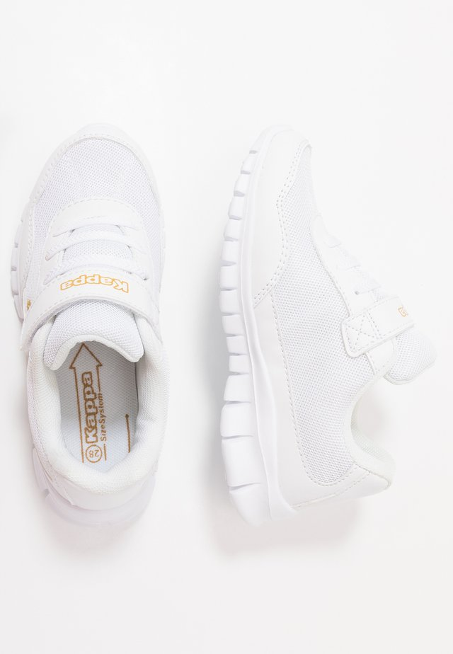FOLLOW - Gym- & träningskor - white/gold