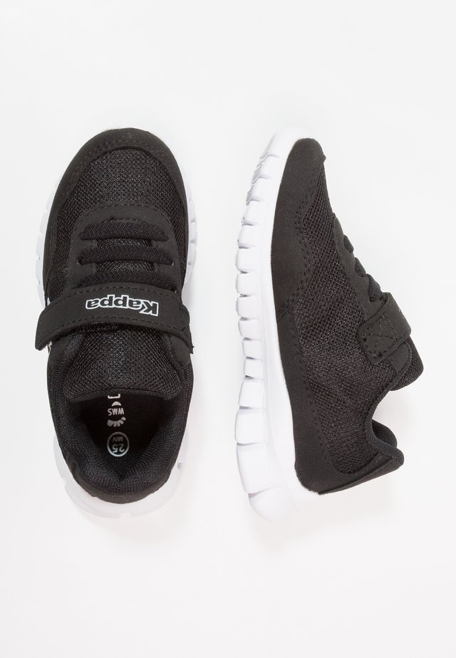 FOLLOW - Sports shoes - black/white