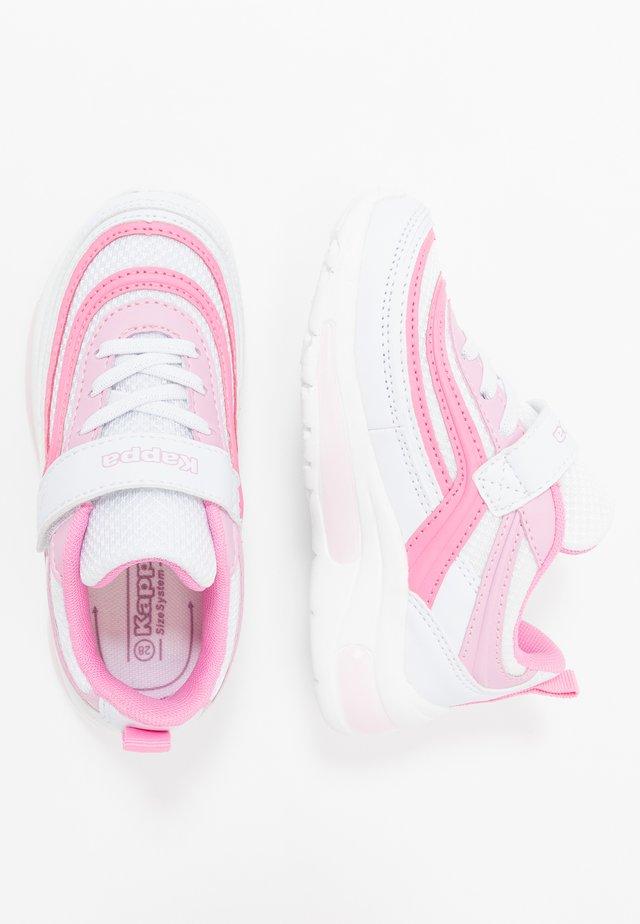 SQUINCE  - Sports shoes - white/rosé