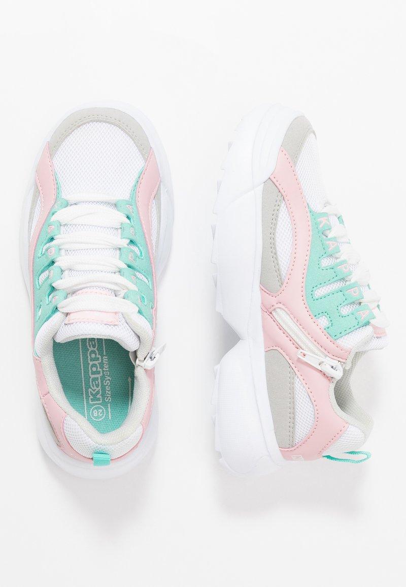 Kappa - OVERTON  - Chaussures d'entraînement et de fitness - white/mint