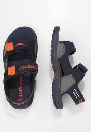 PURE - Sandales de randonnée - navy/orange