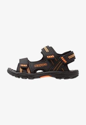 SYMI - Chodecké sandály - black/orange