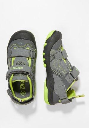 DIGGLE - Chodecké sandály - grey/lime