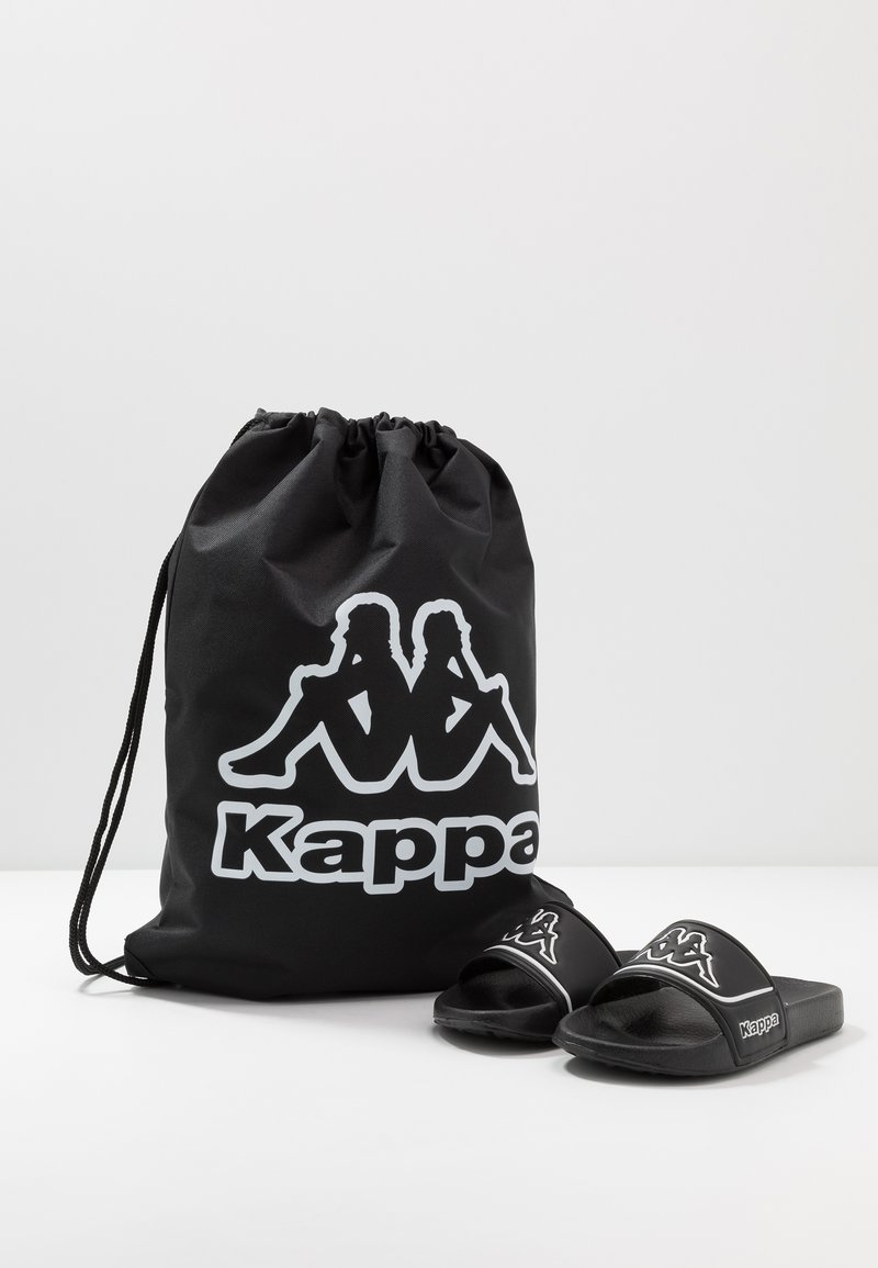 Kappa - MIRTON BEACH SET - Sandales de bain - black/white