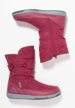 Botas para la nieve - dark red/grey
