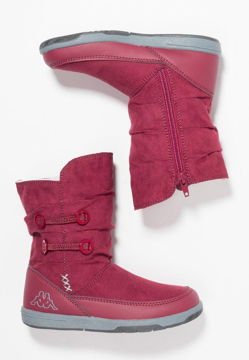 Kappa - Stivali da neve  - dark red/grey