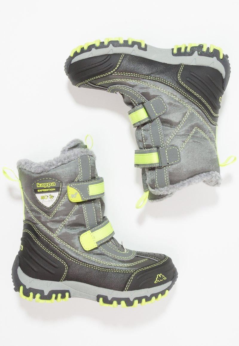 Kappa - BENTO TEX - Zimní obuv - grey/lime