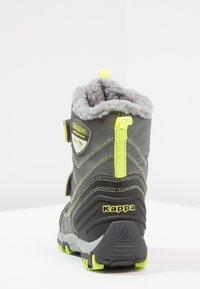Kappa - BENTO TEX - Zimní obuv - grey/lime - 4