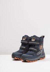 Kappa - RESCUE TEX - Stivali da neve  - navy/orange - 3