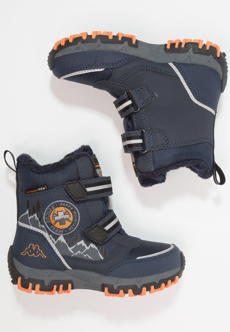 Kappa - RESCUE TEX - Stivali da neve  - navy/orange